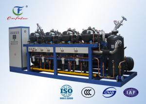 China PLC Controlled Two Stage Cold Chamber Parallel Air Cooled Screw Chiller on sale