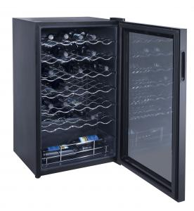 China 34 Bottles 98L Wine Cooler Single Zone (compressor Wine Cellar) on sale