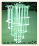 Lustre en cristal de fibre optique de spirale de lieu de réunion, cristal de lustre de baisse (OFC-12)