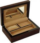 Pequeñas cajas de madera de lujo con la impresión a todo color, barniz de Jewellry del lustre para el regalo