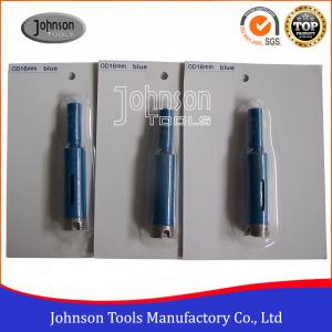 China Masonry Drill Bit / OD16mm Diamond Core Drill Bits With 3 / 8 Shaft on sale