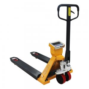 China 2T Hand Pallet Truck Scales Wear Resistant With Hydraulic Drum Lifter on sale