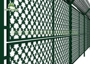 Wire Mesh Fence Panels | Welded Steel Razor Wire Mesh Fence Panels 75 150mm Hole For Prison