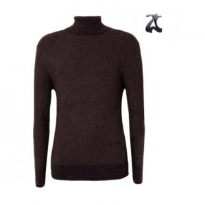 China Long Sleeve Style Men's Knit Pullover Sweater , Turtleneck Sweater Smooth Elastic on sale
