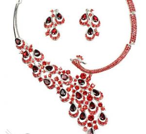 China fashion silver bridal costume jewelry rhinestone necklaces crystal for wedding  on sale