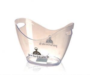 China Plastic large wine ice bucket with custom logo printing on sale