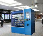Instant Food Noodles Lunch Box Vending Machines Kiosk With Microwave and Credit Card Payment