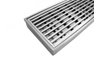 China High Specification Stainless Steel Channel Drain Grates Standard Width 995MM Gap 5MM on sale