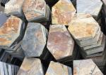 Rusty Yellow Slate Stepping Stones For Flooring , Outdoor Garden Slate Stones