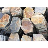 Rusty Yellow Slate Stepping Stones For Flooring , Outdoor Garden Slate Stones