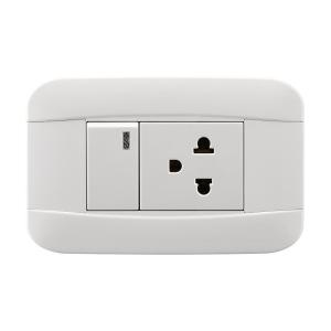 China White Electric Switch Socket VT SERIES ABS Materia With Copper Parts And Silver Contact on sale