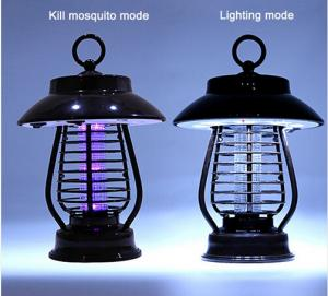 China Outdoor Led Solar Mosquito Killer Lamp , Water Proof Electric Bug Zapper on sale