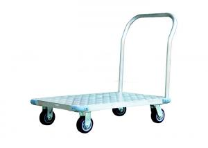 China 4 Wheels Aluminum Platform Hand Trolley on sale