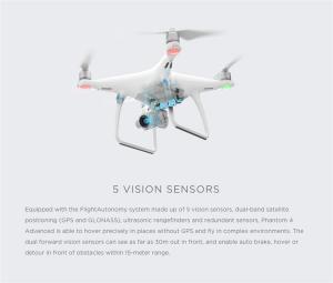 China DJI Phantom 4 Advance Camera Drone FPV 4K Quadcopter Visual Tracking Follow Me Sport Mode Obstacle Sensing System on sale