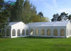 China Aluminum 500 People Arcum Large Party Tents With Clear PVC Windows on sale