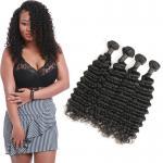Unprocessed Deep Wave Brazilian Hair Bundles , Deep Wave Human Hair Weave