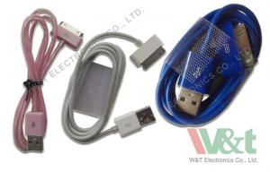 China Sync Blue / White USB DC Power Cable TPE Apple Charger Cord For Iphone 4 / 4S on sale