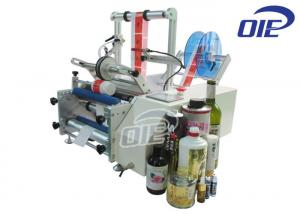 China Tabletop Glass Bottle Automatic Labeling Machine For Wine Bottle / Beer Bottle on sale