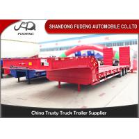 Low bed truck trailer for sale, 3 axles lowboy semi trailer excavator trailer