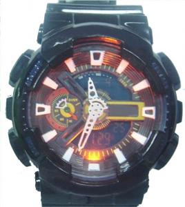China 3 ATM Waterproof Mens Analog-digital Watches With Hourly Chime on sale