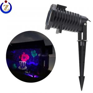 China Dongguan factory supply fiber optic christmas tree lighting red blue fashion color laser projector on sale