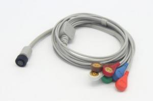 China Compatible Reusable GE Holter Recorder Medical ECG Cable With Integrated 5 Lead Wires medical cable on sale