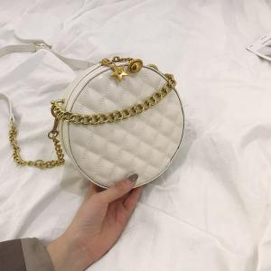 China Sling Handbag Round Shape Leather Womens Ladies Crossbody Shoulder Bags on sale