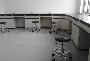 China Commercial Laboratory Wall Cabinets Multi Choice Worktops With Stool Chairs on sale
