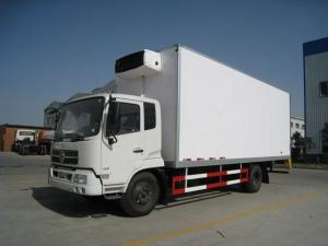 China 4x2 190hp Cargo Van Trailer , Freezer Refrigerated Van Truck / Cargo Box Truck on sale