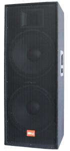 China Wooden enclosure, black carpet, dual 15 3 ways Professional audio speaker system; powerful PA speaker on sale