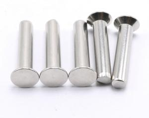China 18-8 Flat Head Stainless Steel Solid Rivets , Countersunk Head Solid Rivet on sale