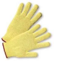 M Cute bright yellow color cut resistance Kevlar string knitted glove for women