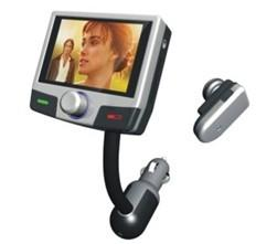 China Bluetooth Handsfree Car Kit with Mp4 Player on sale