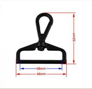 China Gunmetal Plating Swivel Eye Snap Hook 38mm , Easy Locked Dog Leash Hardware on sale