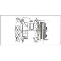 ALA22321 SANDEN A/C COMPRESSOR SANDEN 4013 A/C COMPRESSOR 4440 A/C COMPRESSOR