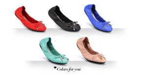 China Wholesale latest fashion women leather folding flat shoes soft comfort ballet shoes HC-X02 on sale