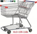 carrinho de compras da mercearia do metal da propaganda 180L com rodas 1080x640x1075mm