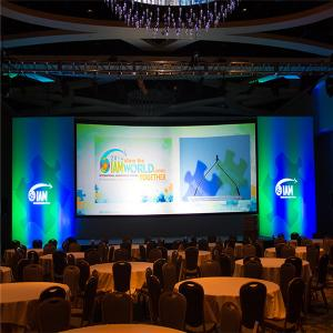 China P2.5 Conference HD LED Display Screen / Indoor LED Video Wall with Super Light Cabinet on sale