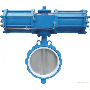 China API598 Pneumatic Flanged Butterfly Valve , DN40-1200 Soft Sealing Butterfly Valve on sale