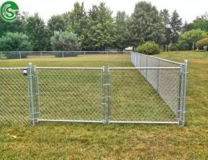 China Modern gates and fences design used chain link fence double swing gates on sale