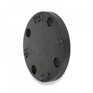 China Black Blind Flange Cast Iron Pipe Fittings Anti Rust Zinc Plus Bitumen Coat on sale