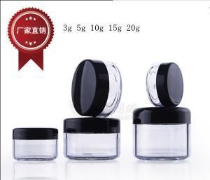 Quality 3g 5g 10g 15g 20g small plastic Jar, trial face eye cream jar for sale