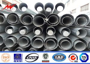 China hot dip galvanized 60 ft length 70 ft 90 ft steel pole GRADE 65 ASTM A572 on sale