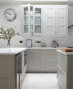 China American ash solid wood kitchen cabinets country style kitchen cabinets factory on sale