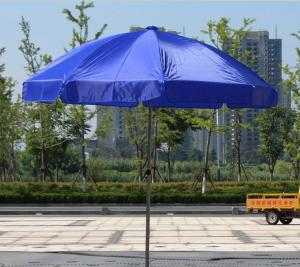 China Promotion Advertising 190T Polyester Parasol Sun Beach Umbrella on sale