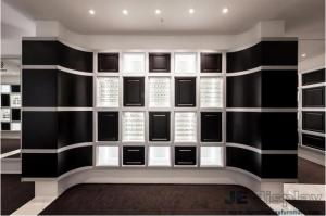 ... Quality Eyeglass Display Case Optical Store Interior Design By Wall Eyeglass  Display Cabinets In Black With
