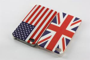 China Embossing Flag Iphone 4 Hard Shell Case , PC Ultralight Protective Covers on sale