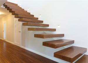 ... Quality Wooden Steps Floating Steps Staircase Residential Indoor Stairs  With Removable Stair Railing For Sale ...