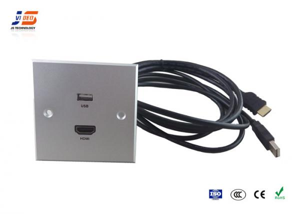 hotel silver media hub wall plate wall mounted with usb hdmi cable rh interconnectbox sell everychina com
