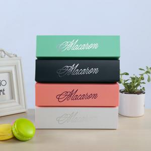 China Flexo Printing Food Packaging Box Open Top Eco - Friendly For Macaron on sale